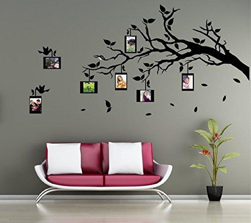 wandtattoo wandaufkleber ast mit fotorahmen farbe und ausrichtung frei w hlbar. Black Bedroom Furniture Sets. Home Design Ideas