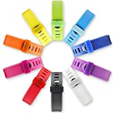 SKYLET 10pcs Mix-Colorl Silicon Fastener Ring for Garmin Vivofit&Garmin Vivofit 2