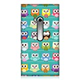 Head Case Designs Kawa Green Owl Patterned Back Cover Case for Nokia Lumia 900