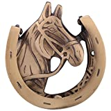Ace Antique finish Brass Horse Shoe Door Knocker (5 inches X 4.5 inches )