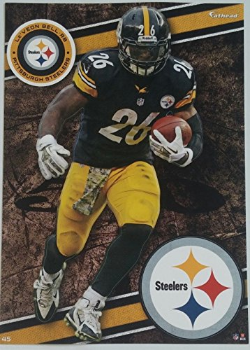 "Le'Veon Bell 2014 NFL Fathead Tradeables 5"" x 7"" Pittsburgh Steelers - #45 - 1"
