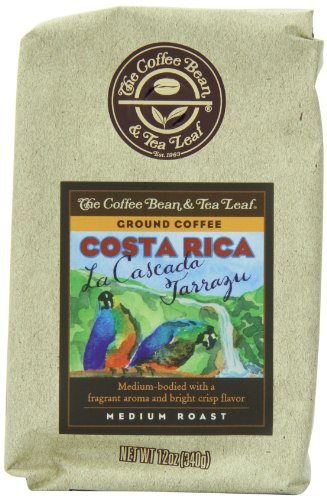 The Coffee Bean & Tea Leaf, Hand-Roasted Costa Rica Ground Coffee, 12-Ounce Bags (Pack Of 2)