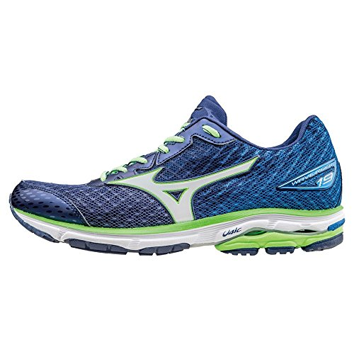 Mizuno Wave Rider 19 Blue White Green 43