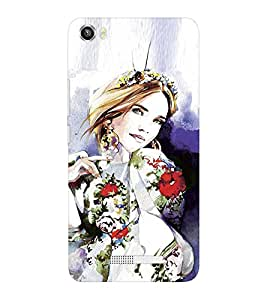 EPICCASE Supermodel with patterned clothes Mobile Back Case Cover For Lava Iris X8 (Designer Case)