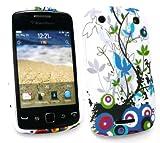 Emartbuy Blackberry 9380 Curve Gel Skin Cover Country Garden