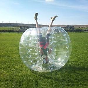 Amazon.com: HolleywebTM Bubble Soccer Ball Suit Dia 5' (1 ...