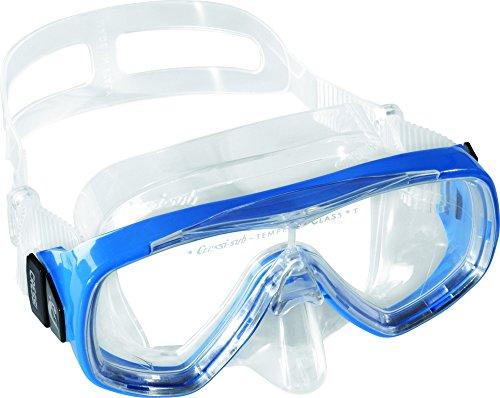 Cressi Baby Maske Ondina Junior, Clear/Blau,