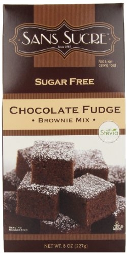 Sans Sucre Chocolate Fudge Brownie Mix, 8-Ounce (Pack of 6)