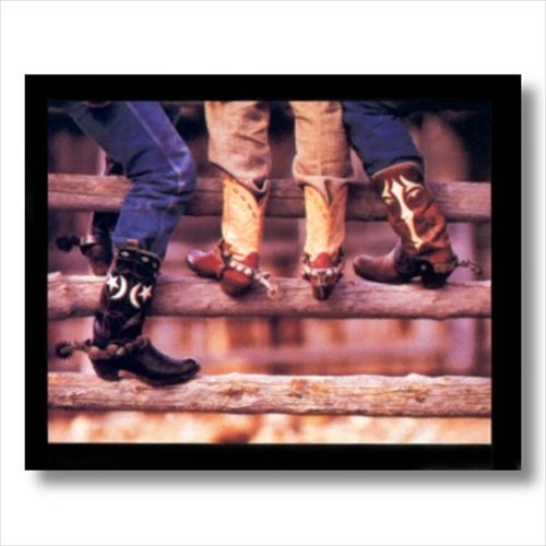 Old Cowboy Boots And Spurs Western Rodeo Wall Picture Art Print (Rodeo Pictures compare prices)