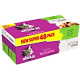 Whiskas Pouch Tasty Textures Bite n Chew Mixed '48 X 85 g pouches'