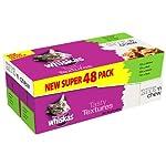 Whiskas Pouch Tasty Textures Bite n Chew Mixed '48 X 85 g pouches'