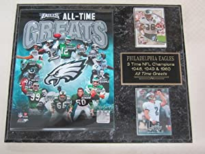 Philadelphia Eagles All Time Greats 2 Card Collector Plaque by J & C Baseball Clubhouse