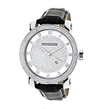 Luxurman Diamond Watches Mens VS Diamond Watch .18ct