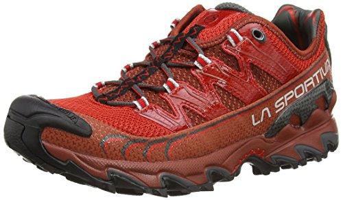 La Sportiva - Scarpe da running da uomo, modello Ultra Raptor, colore: rosso/marrone, 42,5