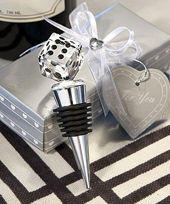 Crystal Dice Bottle Stoppers: Las Vegas Wedding Favors, 12