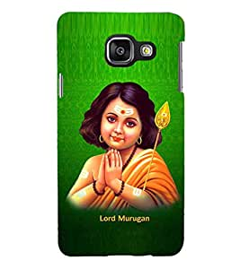 PRINTSHOPPII LORD MURUGAN Back Case Cover for Samsung Galaxy A3 (2016) Duos