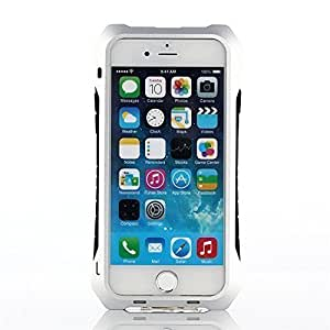 Newlemo Metal Gorilla iPhone Case Aluminum Alloy Protective iPhone Case Gorilla Glass Anti-drop Shockproof /Dustproof Silicon Case 9H Tempered Glass Case for iPhone 6/6s (Snow Silver)
