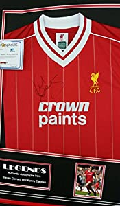 Signed Steven Gerrard and Kenny Dalglish Signed Shirts * AFTAL DEALER Certificate * from www.SignedMemorabiliaShop.co.uk