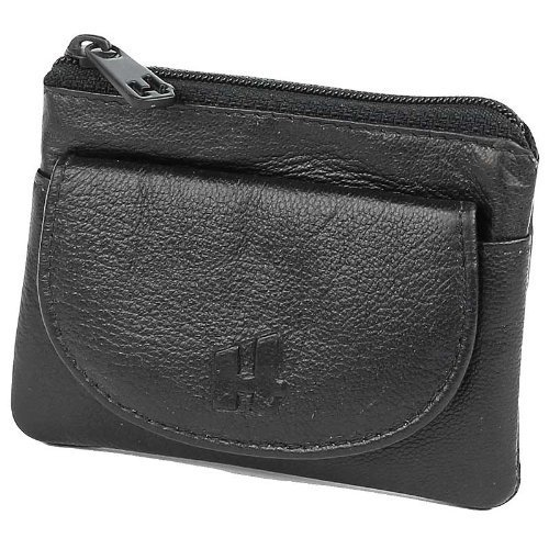 Black Small Leather Purse By Harness . Small Coin Purses In Leather