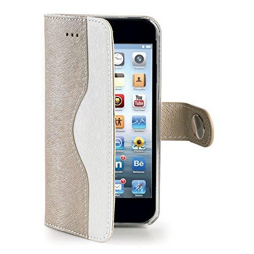 Celly Custodia a Portafoglio Onda per iPhone 6, Oro