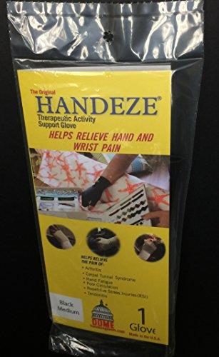 Handeze Therapeutic Gloves, Medium Size 4, Black, Single