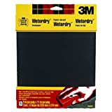 3M Wetordry Sandpaper, 9-Inch by 11-Inch, Assorted Grit, 5-Sheet (Tamaño: 1 Pack)
