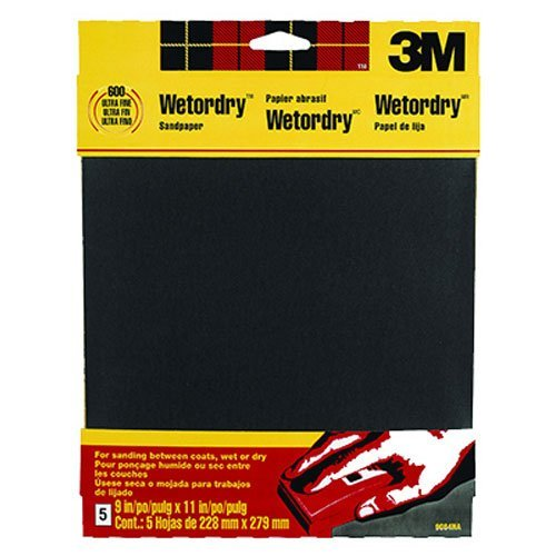 3M Wetordry Sandpaper, 9-Inch by 11-Inch, Super Fine 400 Grit, 5-Sheet (Wet Sand 400 compare prices)