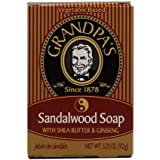 Grandpa's Sandalwood Bar Soap with Shea Butter and Ginseng, 3.25 Ounce