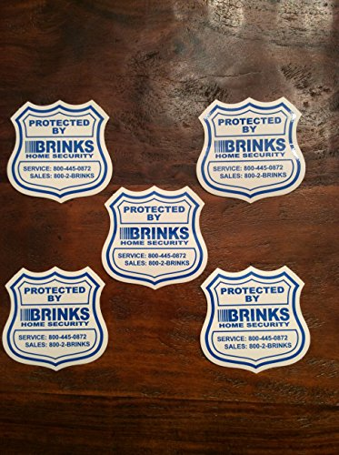 Five (5) Home Security Window / Door Decal Stickers