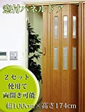 窓付パネルドア チーク 幅100cm×高さ174cm