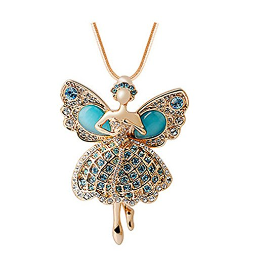 [AngelBliss Butterfly Dance Life-High Grade Crystal Sweater Chain Necklace(C2)] (Dancing With The Stars Costumes Designs)