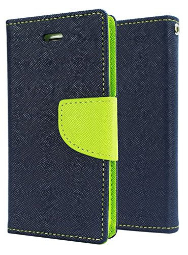 SDO Luxury Mercury Diary Wallet Style Flip Cover Case for Micromax YU Yureka/Yureka Plus - Blue