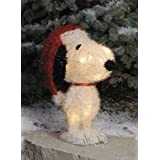 16 Lighted Peanuts Snoopy Fuzzy Sisal Christmas Yard Art