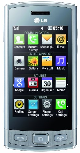LG GM360 Viewty Plus Smartphone (7,6 cm (3 Zoll) Display, Touchscreen, 5 Megapixel Kamera) metallic silber