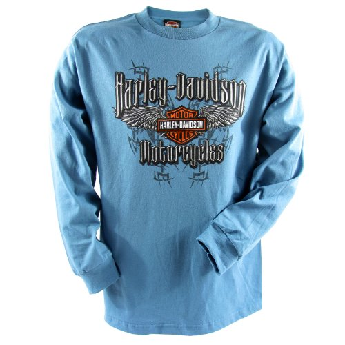 Harley-Davidson Bagram Barbed Wings Long Sleeve T-Shirt Mens, X-Large, Slate
