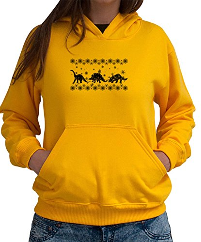Dinosaurs Ugly Christmas Sweater Women Hoodie