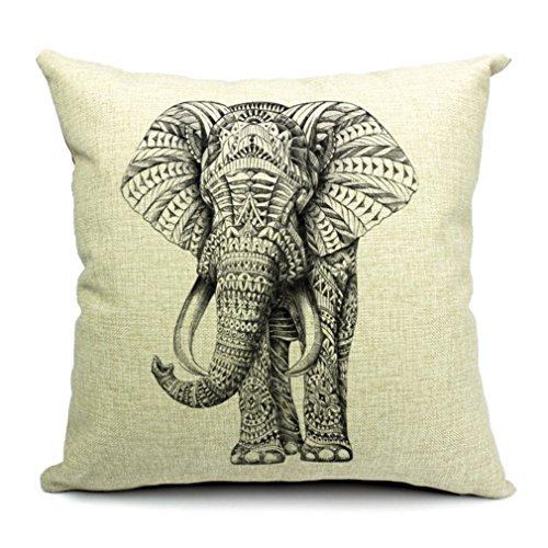 La vogue Kissenbezug Dekokissen Kissenhülle für Hintergrundkante Kissen 45*45cm Elefant
