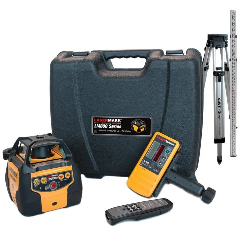 CST/berger 57-LM800GRPKG Automatic Self-Leveling Rotary Laser Level Complete Package