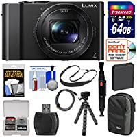 Panasonic Lumix DMC-LX10 4K Wi-Fi Digital Camera with 64GB Card + Battery + Case + Flex Tripod + Sling Strap + Kit