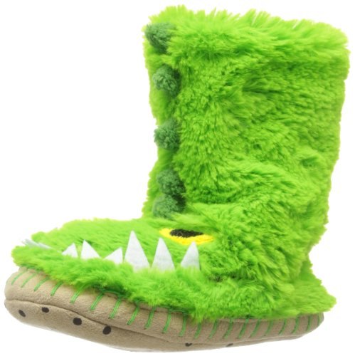 Hatley Little Boys' Kids Slouch Slipper-Gators, Green, Small/5-7 front-752664