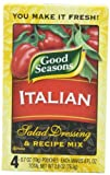 Good Seasons Salad Dressing & Recipe Mix, Italian, 0.7 oz., 4-Count Packets (Pack of 4)