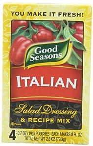 Good Seasons Salad Dressing & Recipe Mix, Italian, 0.7 oz., 4-Count Packets (Pack of 4)