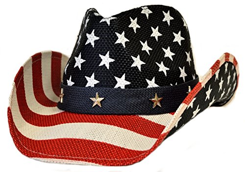 Great Deals! Usa American Flag Western Hat