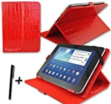 Luxury Red Crocodile Leather Case Cover Stand for SUMVISION CYCLONE VOYAGER 2 10.1'' 10.1 Inch Android Tablet Pc + Stylus Pen