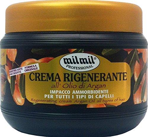 12 x MIL MIL Crema Capillare Rigenerante Olio Di Argan 500 Ml