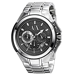 Armani Exchange Chronograph Black Dial Stainless Steel Mens Watch AX1039