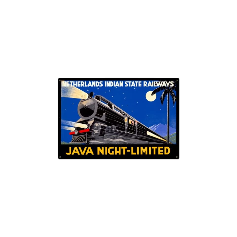 Java Night Train Allied Military Metal Sign   Garage Art Signs