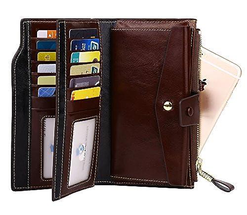 11. Dante Women RFID Blocking Real Leather Wallet - Clutch Wallet for Women