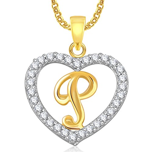 Good Meenaz U0027Pu0027 Letter Heart Pendant Locket Alphabet For Women And Men Ps408 Intended P&l Forms
