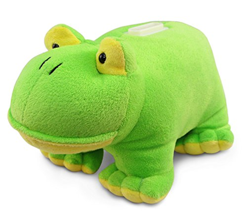 Puzzled Plush Frog Huggie Bank